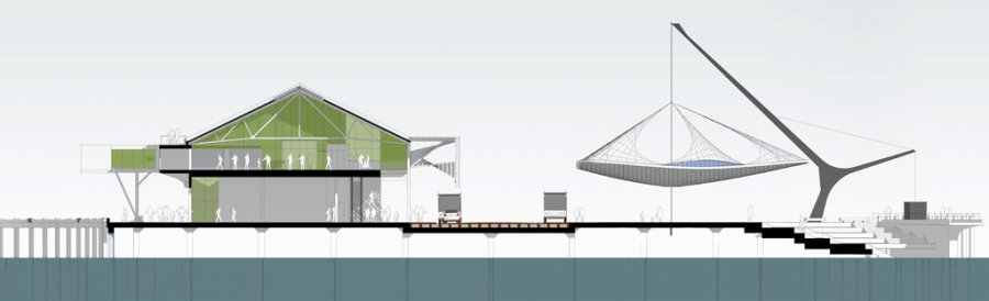 Queens Wharf Competition_Section
